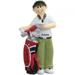 Golfer Personalized Christmas Ornament