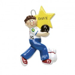 Bowling Personalized Christmas Ornament