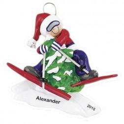 Ski Tree  Personalized Christmas Ornament