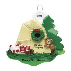 Camping Personalized Christmas Ornament