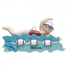 Swimmer Girl  Personalized Christmas Ornament