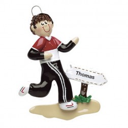 Jogger Personalized Christmas Ornament (Male)
