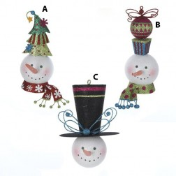 Small Thin Snowman Head Ornament