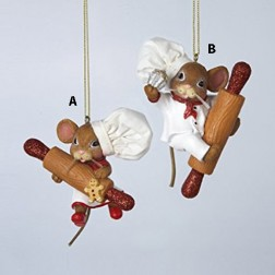 3.5 Inch Resin Chef Mouse Ornament