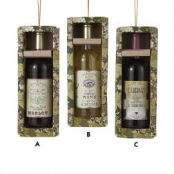 Tuscan Winery Sauvignon Blanc Wine Bottle Gift Box Christmas Ornament