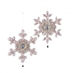 Acrylic Blush Snowflake Ornament