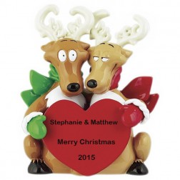 Reindeer Couple Personalized Table Top
