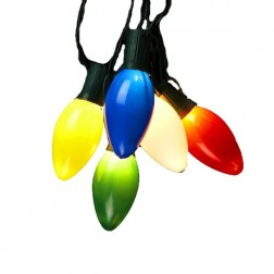 10-Light Multi Colored Bulb Light Set
