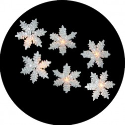 Glitter Drenched Snowflake Christmas Lights