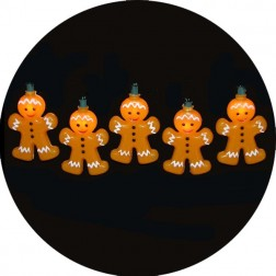 10-Light Gingerbread Light Set