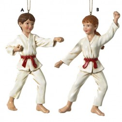 Karate Martial Arts Uniformed Girl Christmas Ornament