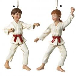 Karate Martial Arts Uniformed Girl Christmas Ornament