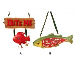 Treble Lure and Fish Christmas Ornament