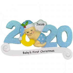 2020 Baby Boy Personalized Christmas Ornament