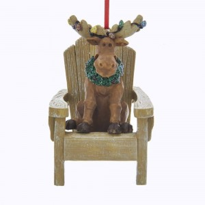 "3.375""Moose On Chair W/C7+Wreath"