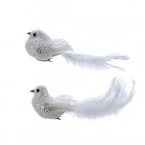 White Bird W/Stone Clip 2/Asstd