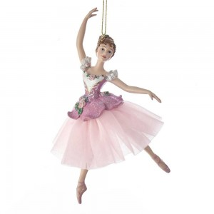 "6.5""Waltz Of Flowers Ballerina Orn"