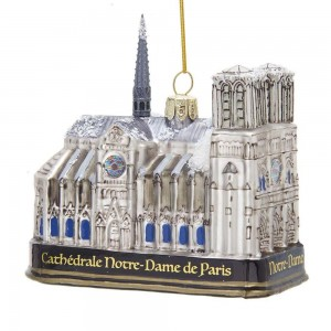 "4.65""Notre Dame Glass Orn"