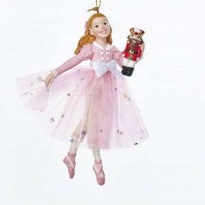 """5""""Resin Pink Clara Orn"""