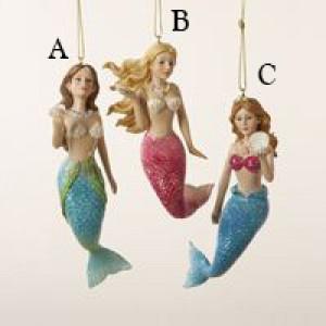 "4.5"" Resin Mermaid Ornament"