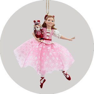 Nutcracker Suite Ballet Dancing Clara Christmas Figure Ornament