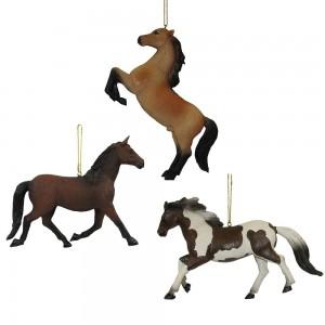 Resin Horse Orn 3/Asstd