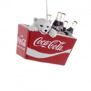 """2.75""""Polar Bear Cub In Coke Cooler"""