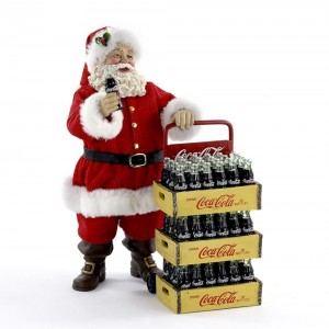 """10.5"""" Coke Santa with Delivery Card (includes 2 pc)"""