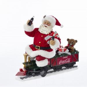"13"" Coke Santa Train with LED Light"