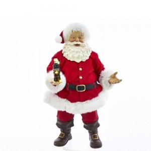 "10.5""Coke Santa W/Led Bottle Tblpce"