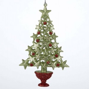"""6.5""""Acrylc Green/Red Berry Tree"""