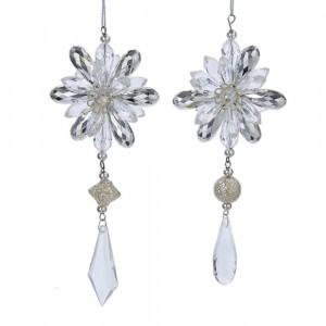"6.1""Acrylc Clr/Silv Jewelry Orn 2A"