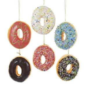 "3.9""Poly Foam Donut Orn 6/Asstd"