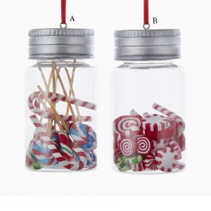 "3.5"" New Candy Jar Ornament"