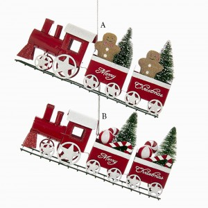 """9"""" """"Merry Christmas"""" Train with GIngerbread/Candy Ornament"""