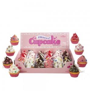 """2.75""""Foam Cupcake W/Candy Orn 12/A"""