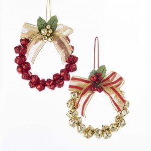 """4""""Met Go/Red Wreath W/Bell Orn 2/A"""