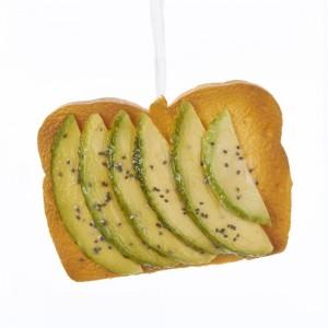 """4.5""""Green Avocado Toast Orn"""