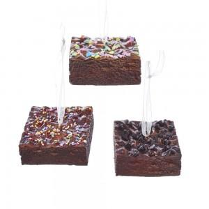 """2.75""""Foam Brownies W/Sprinkles 3/A"""