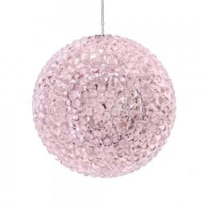 90Mm Pink Bead Ball Orn