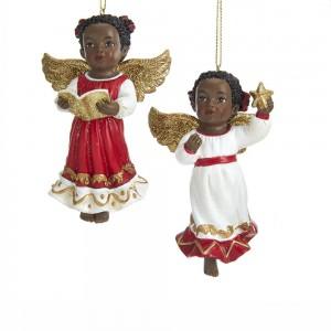 "3.75""African American Angel Orn 2/A"