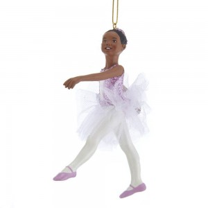 "4.5""African American Ballerina Orn"