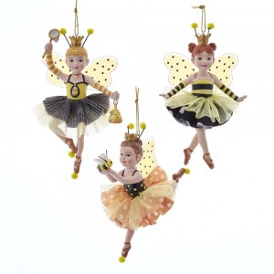 """5""""Res/Fbrc Bumble Bee Girl Orn 3/A"""