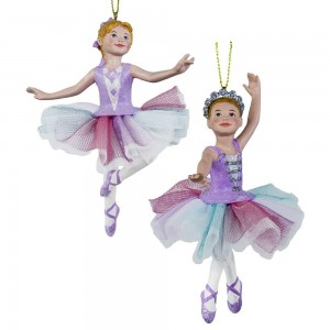 "5.13""Multi Pastel Ballerina Orn 2/A"