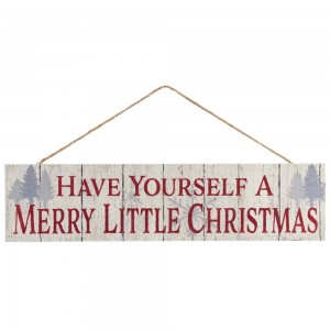 """11.75""""Wooden Christmas Sign Orn"""