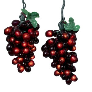 Wine Lovers Burgundy Grape Christmas Light Set