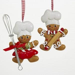 """5.25""""Gingerbread Boy/Girl Orn 2/A"""