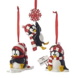 """3""""Resin Penguin Orn 3/Asstd"""