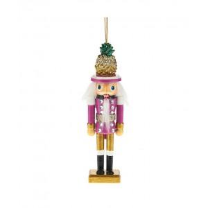 "6""Hollywd Ntcrckr Pineapple Hat Orn"
