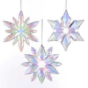 "4.75""Acrylic Clr/Irid Snowflake 3/A"
